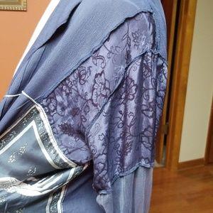 Nataya Dresses - Natalya dark blue romantic duster